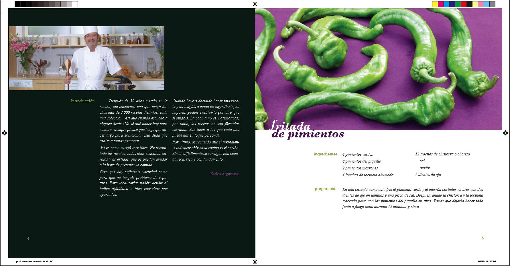 Ejemplo maquetación Arguiñano | pixelnomicon