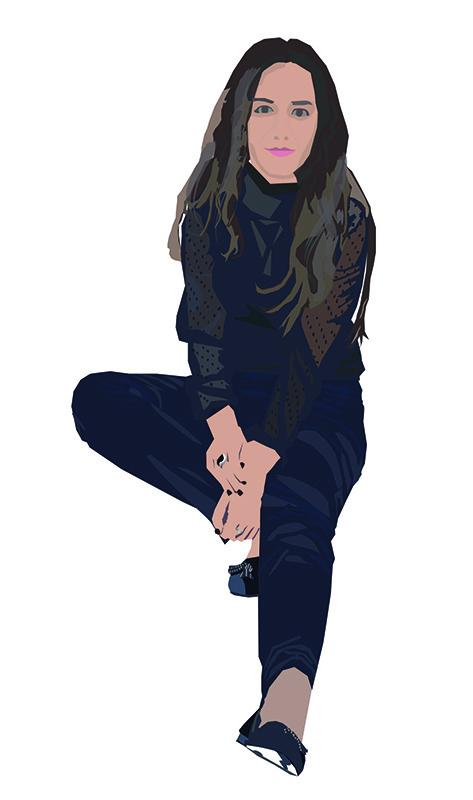 Irene Marchante: Autorretrato Vectorial