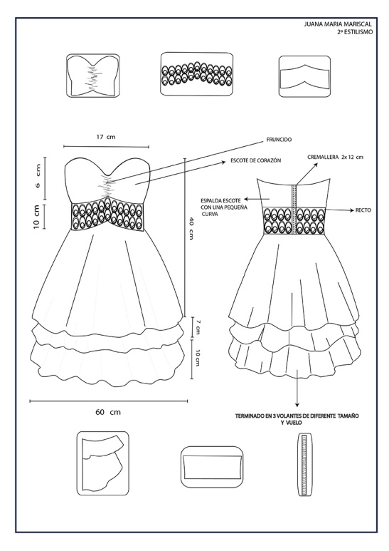Juana Maria Mariscal: Dibujo en plano. Moda