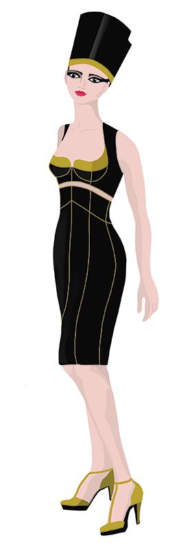 Marina. Figurín de Moda