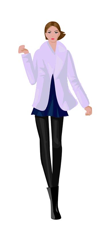 Verónica. Figurín de Moda 1