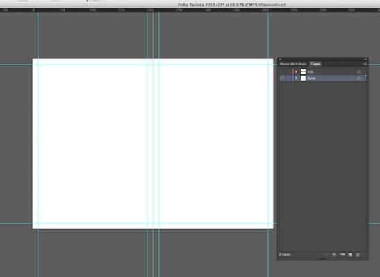 Documento A3 en Illustrator con Lineas Guía para Ficha Técnica