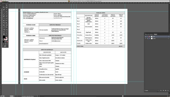 Tablas creadas en InDesign copiadas en Illustrator
