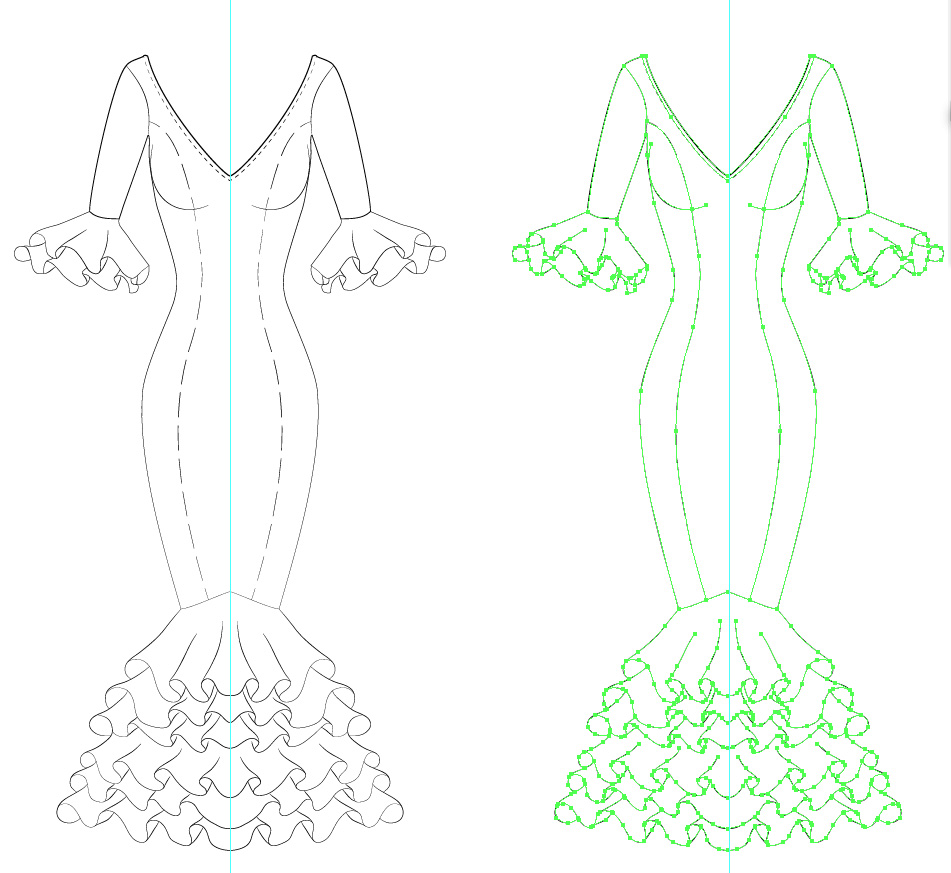 Dibujos de trajes de gitana para colorear - Imagui