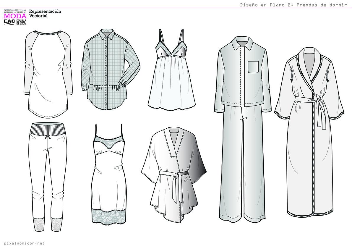 Dibujo En Plano Para Diseño De Moda