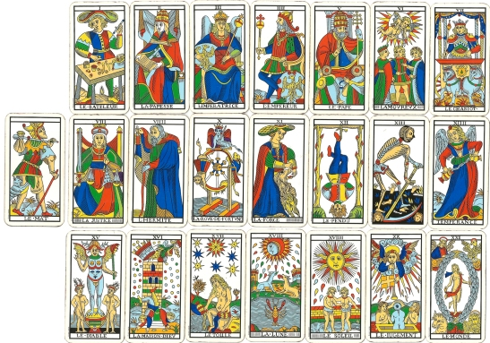 Tarot de Marsella, Arcanos mayores