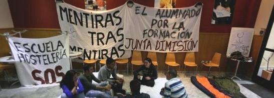 Encierro de Alumnos de la escuela. Foto de Francis Jiménez
