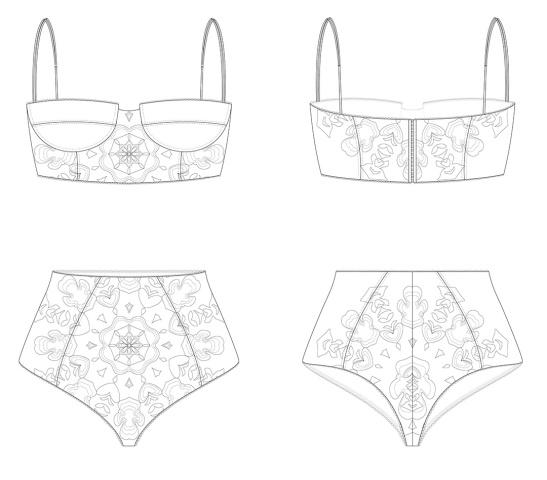 Lenceria. Diseño de Moda. pixelnomicon.net