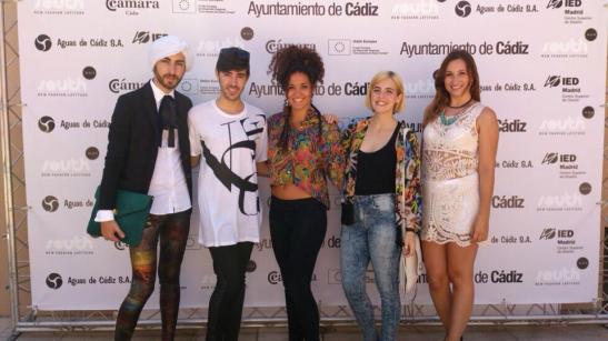 Manuel, Jose, Celia, Arantxa y Elena, alumnos de los EASD de Moda