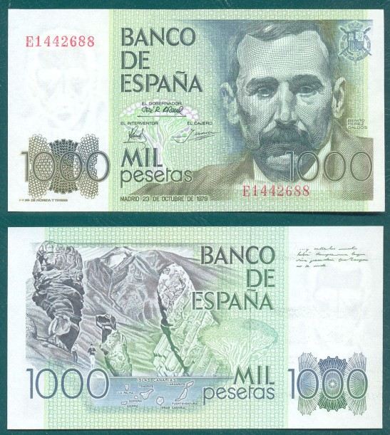 1000 pesetas 1979