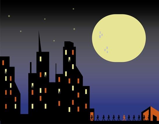 Ciudad con gente