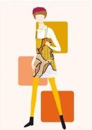 Figurin de moda. Adobe illustrator. pixelnomicon.net Escuela de Arte de Cádiz