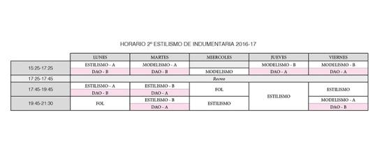 horariodao2estilismo16-17