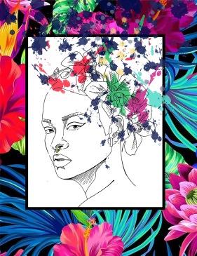 rihana ilustración